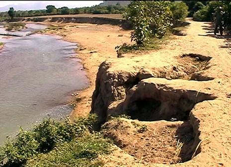 Một người dân bị phạt 60 triệu đồng vì lấy cát trên sông - ảnh 1