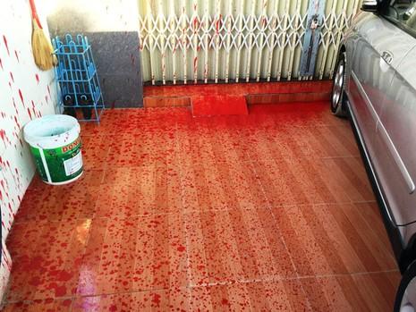 Nhà của phóng viên báo Người Lao Động bị tạt sơn đỏ - ảnh 2