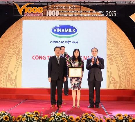 Vinamilk giữ ngôi đầu bảng xếp hạng VNR500 - ảnh 1
