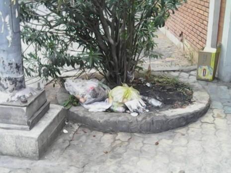 """Không có thùng rác, trạm xe buýt """"như bãi chiến trường"""" - ảnh 2"""