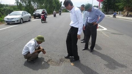 Quốc lộ 1A bị phá hoại bằng hóa chất lạ - ảnh 2