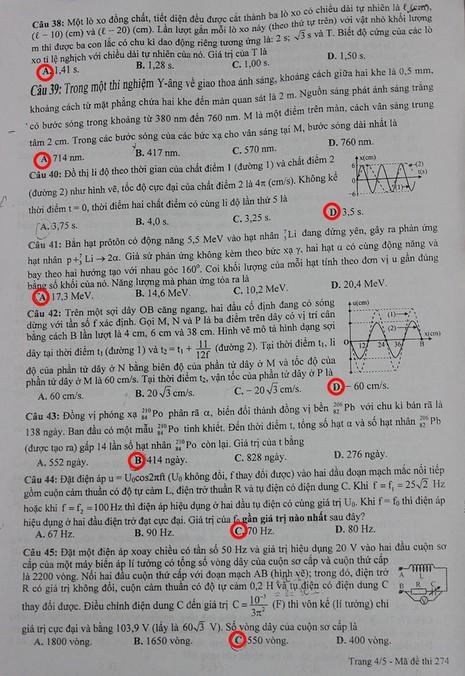 Mời bạn đọc xem đề thi, gợi ý bài giải môn thi Vật Lý  - ảnh 4