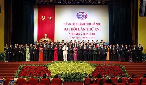 Hà Nội ra mắt Ban Chấp hành Đảng bộ khóa mới 74 người - ảnh 1