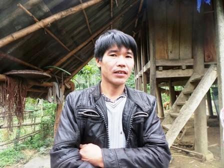 Anh Lê Văn Minh, người dân tộc Mường mang họ Lê