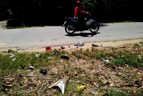 Xe máy đối đầu, bốn người tử vong tại chỗ - ảnh 1