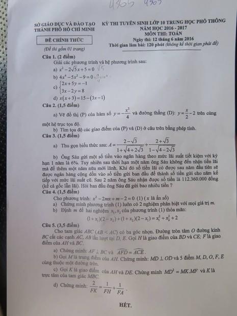Học sinh thi lớp 10 thích thú vì đề toán có tính tiền gửi ngân hàng - ảnh 2