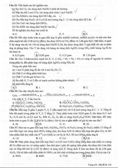 Gợi ý bài giải, đề thi môn Hóa học  - ảnh 8