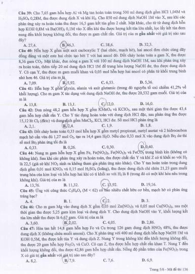 Gợi ý bài giải, đề thi môn Hóa học  - ảnh 9
