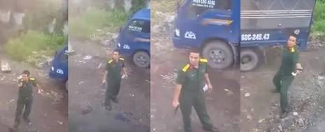 Điều tra clip quân nhân rút súng phát tán trên mạng  - ảnh 1
