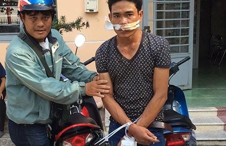 'Hiệp sĩ' vây bắt trộm xe máy - ảnh 1