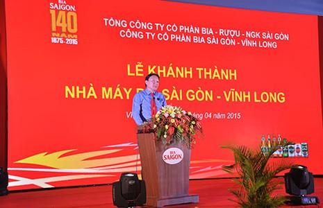 Khánh thành Nhà máy bia Sài Gòn - Vĩnh Long - ảnh 1