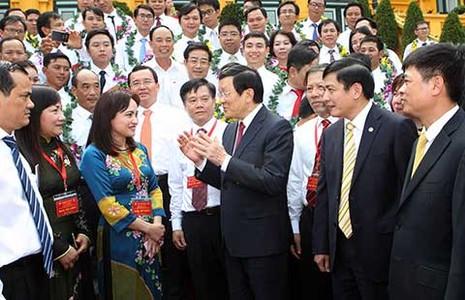 Chủ tịch nước gặp mặt các điển hình tiên tiến ngành dầu khí - ảnh 1