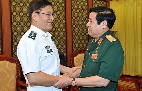 Bộ trưởng Phùng Quang Thanh tiếp đoàn Bộ Quốc phòng Trung Quốc - ảnh 1