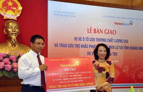VietinBank chung tay sẻ chia với nhân dân Quảng Ninh - ảnh 1