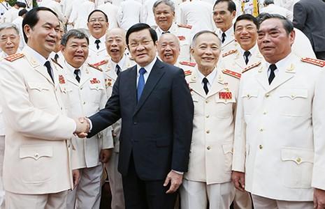 Chủ tịch nước tiếp các thế hệ tướng lĩnh công an - ảnh 1