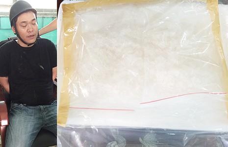 Bắt ma túy liên tỉnh, thu 1 kg 'hàng đá' - ảnh 1