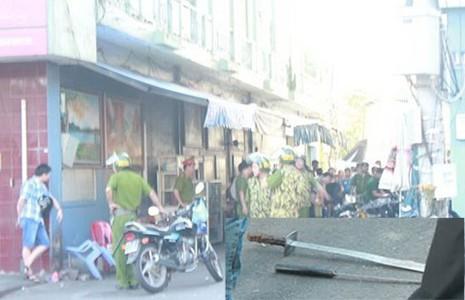 Truy sát giữa phố, hai người bị thương  - ảnh 1