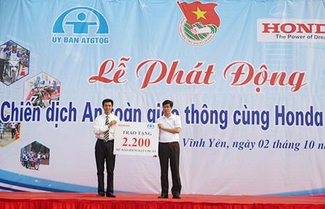 Honda Việt Nam phát động chiến dịch ATGT - ảnh 1