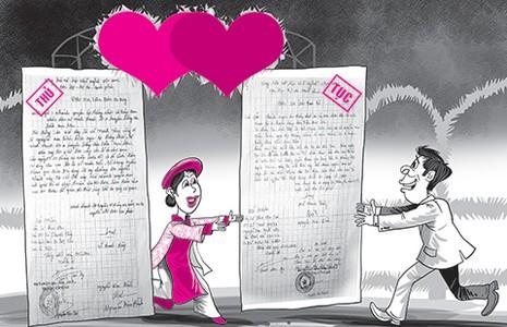Đám cưới, đám hỏi phải làm đơn xin phép xã - ảnh 1