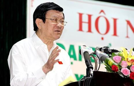 Chủ tịch nước Trương Tấn Sang: Cần lên án việc chi tiêu phung phí - ảnh 1