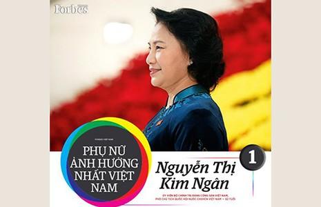 Bà Kim Ngân - người phụ nữ ảnh hưởng nhất Việt Nam - ảnh 1