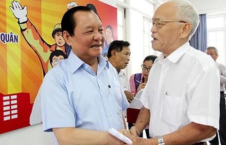 Nguyên Bí thư Thành ủy Lê Thanh Hải chia tay cử tri  - ảnh 1