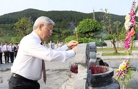 Mít-tinh kỷ niệm 110 năm ngày sinh Tổng Bí thư Hà Huy Tập - ảnh 1