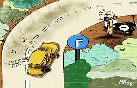 Tình huống kỳ 6: Vào đường cong phải bật xi nhan? - ảnh 1