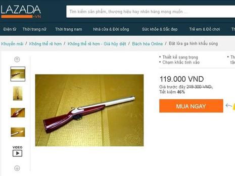 Vô tư mua bán hộp quẹt hình súng - ảnh 3