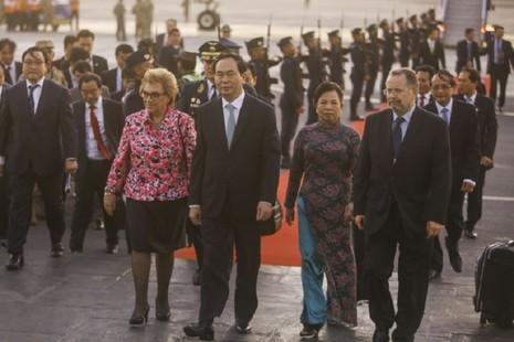 Chủ tịch nước đến Peru tham dự diễn đàn APEC - ảnh 1