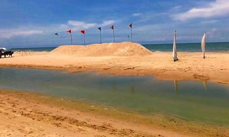 Cào cát dọn sạch bãi biển bị xử phạt! - ảnh 2