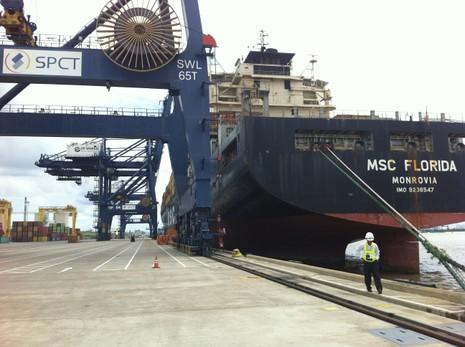 Lần đầu tiên, tàu biển dài 287 m vào TP.HCM - ảnh 1