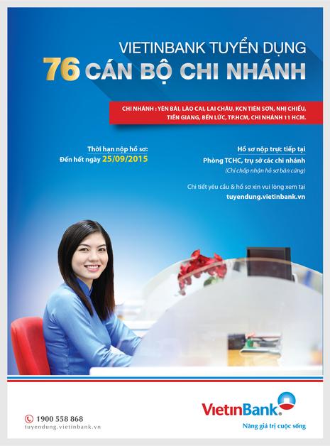 VietinBank tuyển dụng cán bộ trên toàn hệ thống - ảnh 1