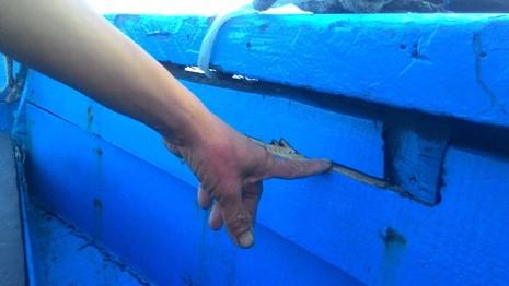 Thêm tàu cá ở Quảng Nam bị tàu lạ tấn công - ảnh 1