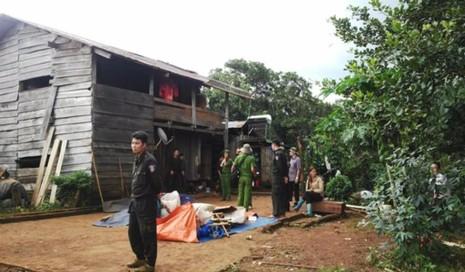 Ngôi nhà nơi xảy ra vụ nổ súng.