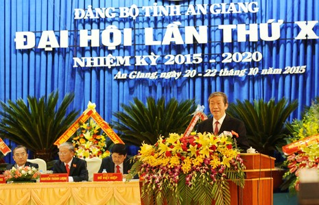 Khai mạc Đại hội Đảng bộ tỉnh An Giang lần thứ X - ảnh 2