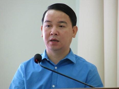 Tổng giám đốc Vietlott trình bày về hiệu quả của sản phẩm xổ số điện toán góp phần vào an sinh xã hội các địa phương... Ảnh: N.NAM