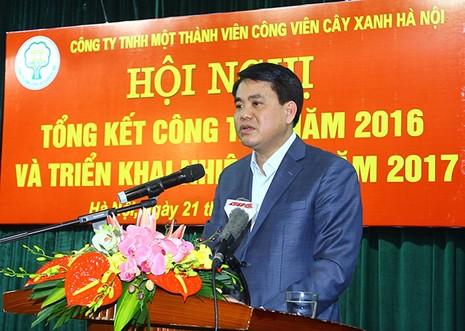 Chủ tịch Hà Nội: Phải học trồng cây xanh từ Trung Quốc - ảnh 1