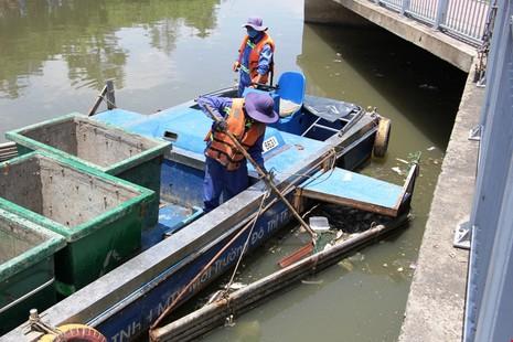 Gần 800kg cá rô phi chết trên kênh Nhiêu Lộc - ảnh 1