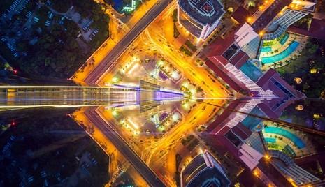 Ngắm Hà Nội đẹp lạ từ trên cao  - ảnh 11