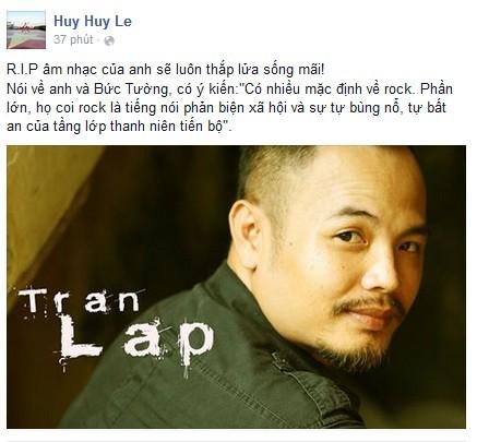 Cư dân mạng tiễn biệt ca sĩ Trần Lập - ảnh 3