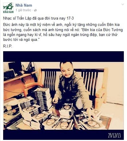 Cư dân mạng tiễn biệt ca sĩ Trần Lập - ảnh 4