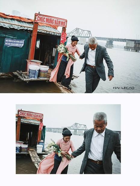 Bộ ảnh cưới của cặp vợ chồng già vớt xác ở sông Hồng - ảnh 10