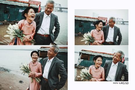 Bộ ảnh cưới của cặp vợ chồng già vớt xác ở sông Hồng - ảnh 12