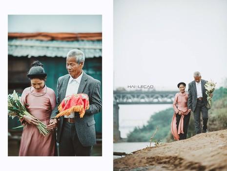Bộ ảnh cưới của cặp vợ chồng già vớt xác ở sông Hồng - ảnh 13