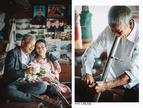 Bộ ảnh cưới của cặp vợ chồng già vớt xác ở sông Hồng - ảnh 1
