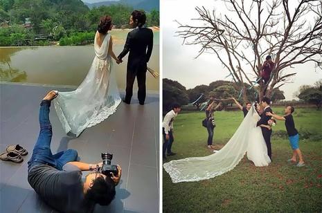Chùm ảnh minh chứng chụp ảnh cưới là nghề khổ nhất năm - ảnh 5