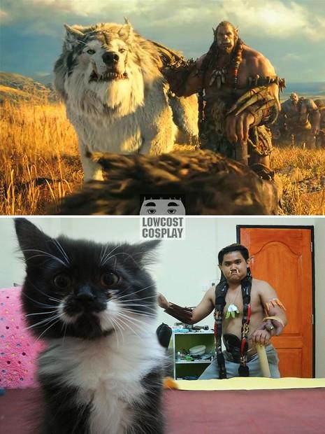 """Nhân vật Durotan  trong phim """"World Of Warcraft"""" được anh mô phỏng khá công phu."""