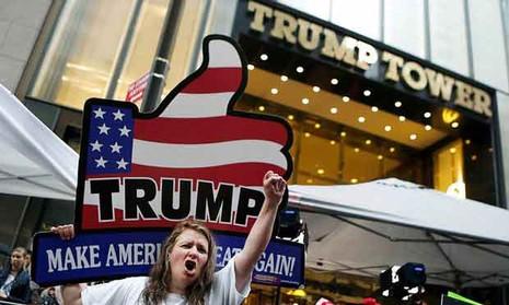 Không khí bầu cử Mỹ qua ảnh - ảnh 12