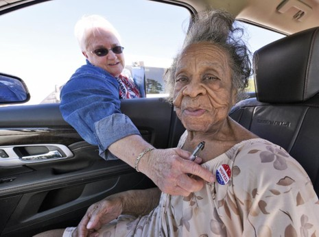 Không khí bầu cử Mỹ qua ảnh - ảnh 11
